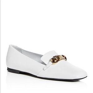Burberry Amy Leather White Loafers 39.5